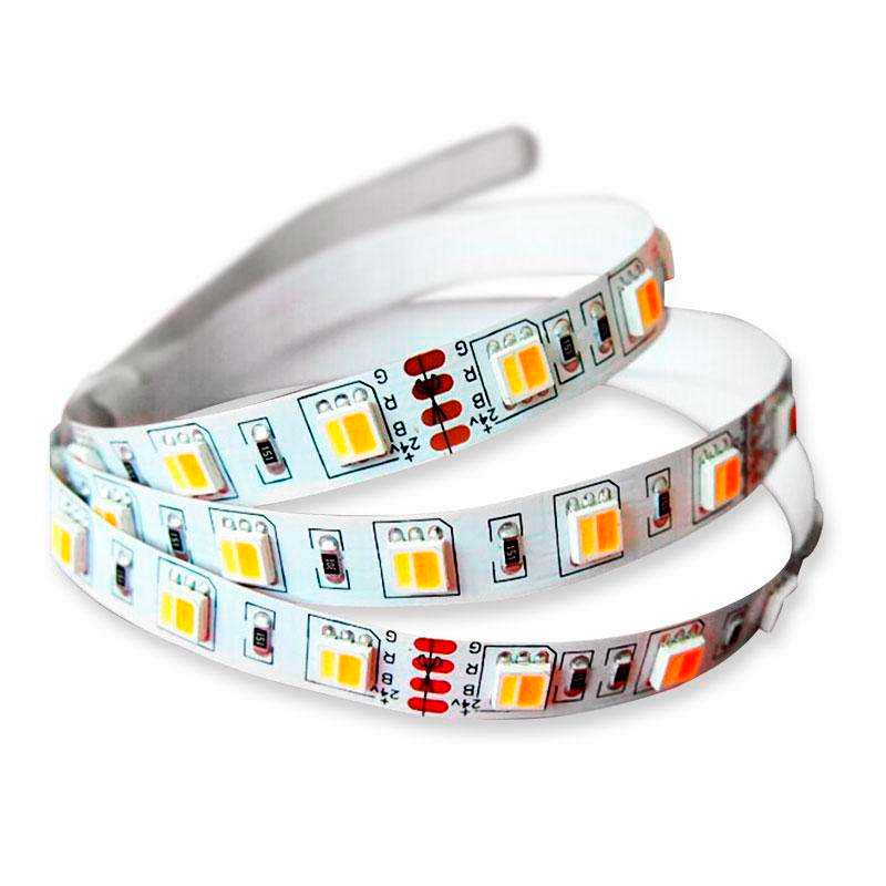 Tira LED FOOD Tricolor SMD5050, DC24V, 5m (60 Led/m) - IP67, Blanco tricolor